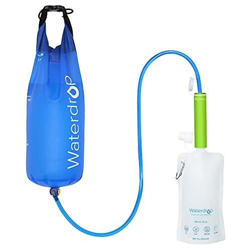 Product Image 1: Waterdrop Gravity Water Filter Straw, Portable Water Purifier Survival for Camping, Hiking, Backpacking and Emergency Preparedness, Green