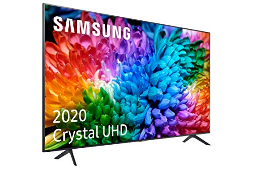 """Samsung Crystal UHD 2020 75TU7105- Smart TV de 75"""" con Resolución 4K, HDR 10+, Crystal Display, Procesador 4K, PurColor, Sonido Inteligente, Función One Remote Control y Compatible Asistentes de Voz"""