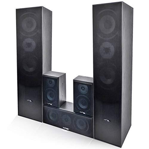 TLC Ensemble 5 Enceintes E1004 Noire HiFi/Home-Cinéma 850 W LTC