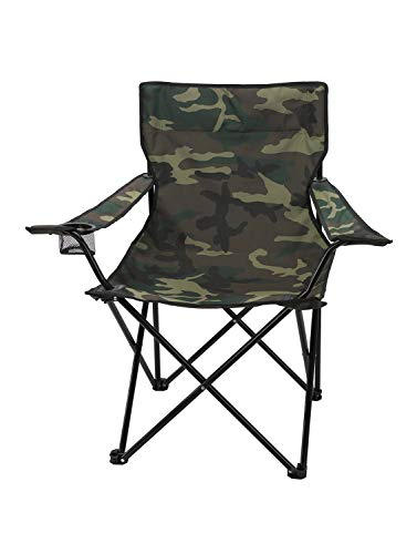 Story@Home Folding Garden Chair | Ideal for Camping, Travelling, Lawn, Patio, Perfect for Adult (Camouflage Green)
