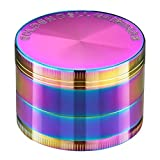 Golden Bell 4 Piece Spice Herb Grinder, 2-Inch - Rainbow Color
