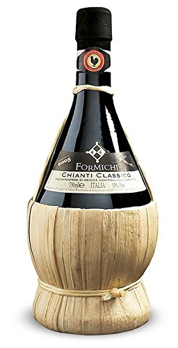 Bonomonte Chianti Classico Fiasco DOCG Vino Rosso 2016 - Confezione Scatola n. 6 fiaschetti da 0,75 ml ciascuno