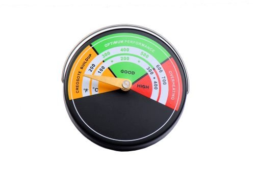 Magnetic Color-Coded Stove Thermometer For Safe Wood Burning From Boone Hearth