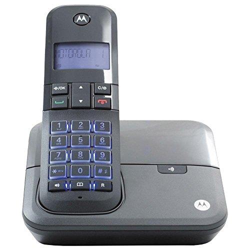 Telefone Digital sem Fio MOTO4000 Motorola com Identificador de Chamadas, VIVA-VOZ, Visor e Teclado Iluminados - Preto