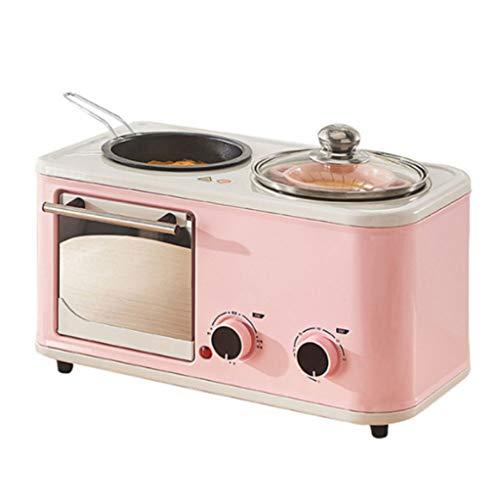 LCZ 4-in-1-multifunktionale Frühstücksmaschine, Toaster, elektrischer Ofen, zum Backen und Braten Frühstück