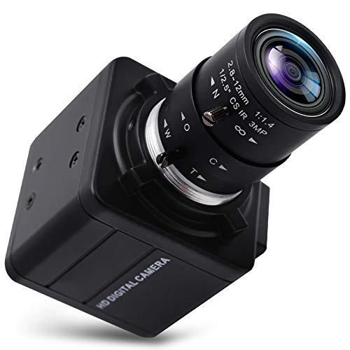 Webcam 4K Ultra HD 2.8-12 mm obiettivo varifocale USB Mini Webcam 3840x2160@30 fps Zoom ottico USB con fotocamera IMX317 sensore fotocamera USB UVC conferenza Webcam per Mac/Window/Linux