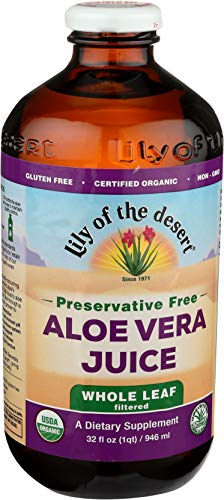 Lily Of The Desert Organic Aloe Vera Juice, Whole Leaf, No...