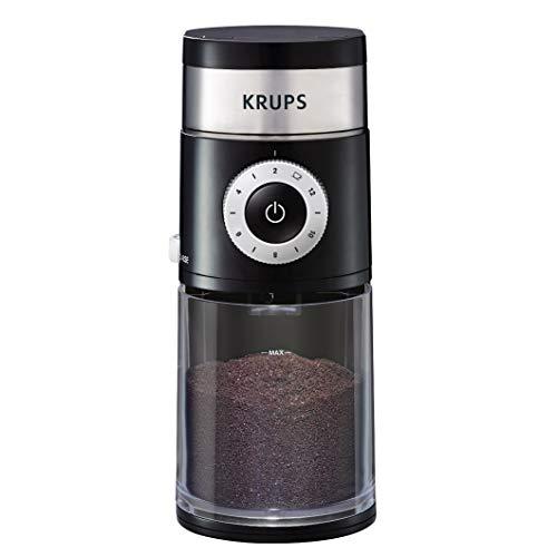 KRUPS GX550850 Precision Grinder Flat Burr Coffee for Drip/Espresso/PourOver/ColdBrew, 12 cup, Black