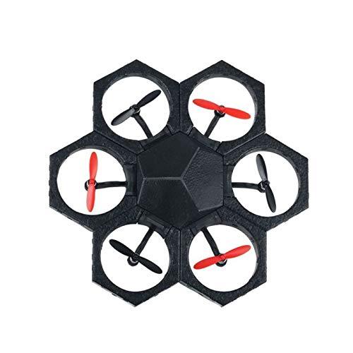 Drone radiocomandato  Drone programmabile  Mini Drone radiocomandato tramite app  Drone modulabile, con supporto in polistirolo per la modalit hower Craft nero e rosso Airblock MR99085