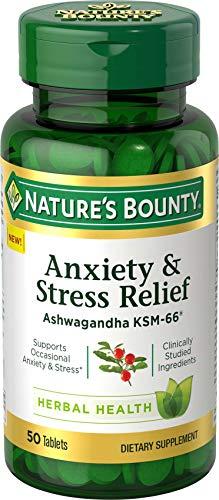 Nature's Bounty Anxiety & Stress Relief Ashwagandha Ksm-66...