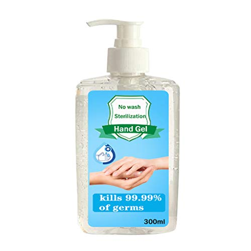 Landsuy Natural Gel Hand Soap, Foam Alcohol Free Foaming Hand Sanitizer Pump No Rinse Foam Hand Soap Gel Liquid Hand Wash(300ml)