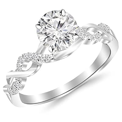 Houston Diamond District offers a 30 day return policy on all of its products Side Diamonds on Engagement Rings with Sidestones are G-H Color SI1-SI2 Clarity We only sell 100% Natural, conflict free diamonds. Direct Manufacturer Prices & Free Certifi...