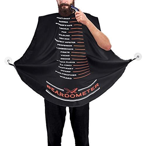 Froster Beardometer - Grembiule da Barba con Misura, Bavaglino da Barba, Cattura Barba e Capelli, Regalo per lui