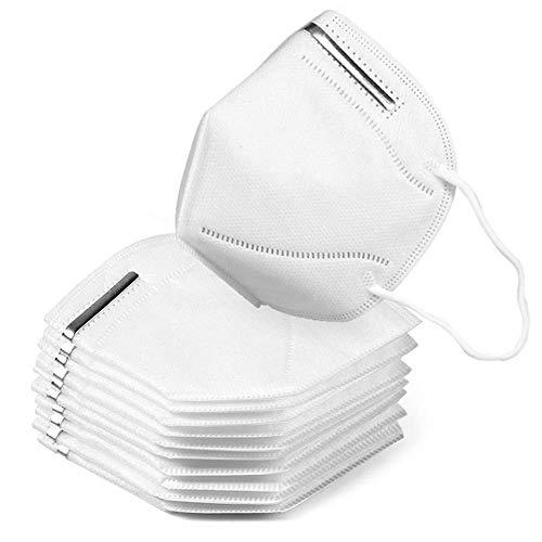 10 maschere anti-inquinamento N95 FFP2 anti-inquinamento, anti-polvere e anti-fumo, effetto filtrazione 98%, unisex, per costruzioni esterne, vernice, casa