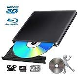 Lecteur Graveur Blu Ray Externe DVD 3D USB 3.0 Portable Ultra Slim Graveur...