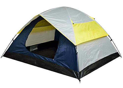 Voroly Polyester Waterproof Portable 4 Person Outdoor Camping Tent (White , Yellow , Black)
