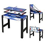 homelikesport Table Multi Jeux 5 en 1 Table de Jeux, pour Hockey, Billard,...