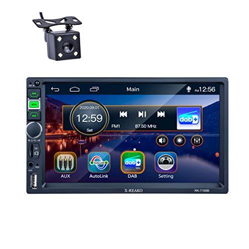 Autoradio 2 din, REAKOSOUND-Radio 7-Zoll-Touchscreen Bluetooth,...