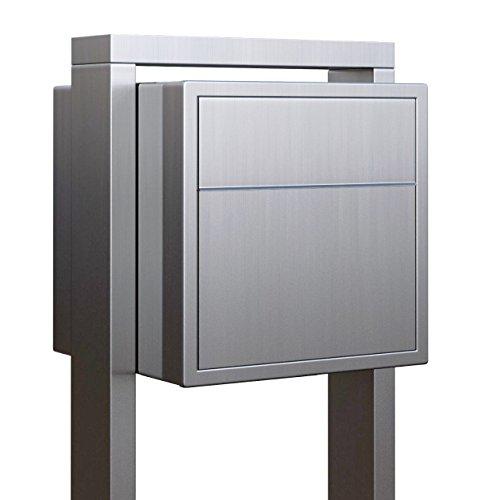 Standbriefkasten, Design Briefkasten freistehend Soprano Edelstahl – Bravios Neue Verbesserte Ausführung