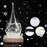Tempête en verre, verre MAGT tempête créative en forme de goutte Bouteille en verre Tempête Bureau Météo Station météo Predictor comme cadeau for le mariage ou les anniversaires