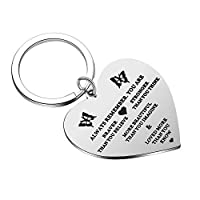 Hypoallergenic quality Stainless Steel,it's gentle on skin and maintains a long lasting sheen and it's highly resisted to rust,corrosion and tarnishing. Inspirational keychain: these pendants key chains contain the meaningful quote: Always remember y...