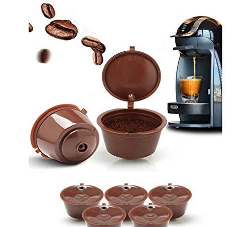 Capsule Ricaricabili Dolce Gusto Cialde Ricaricabili Capsula Ricaricabile Dolce Gusto Riutilizzabili, 8 pezzi, per Nespresso, con pennello e cucchiaio, set da cucina
