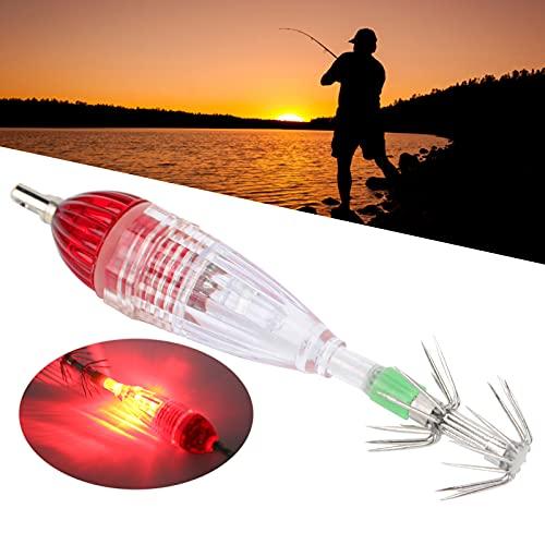 SONK Esca Leggera a LED, Lampada Esca con Luce Esca per Calamari Gancio per Offshore Vicino a Riva, Barche, Laghi e fiumi