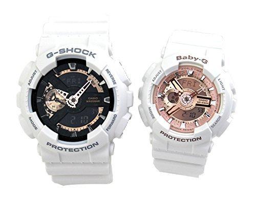 [カシオ]G-SHOCK Baby-G ペアウォッチ 腕時計 加藤時計店オリジナルペアBOX付き ホワイト GA-110RG-7A BA-1...