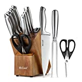 McCook MC35 Knife Sets,11 Pieces German Stainless Steel Hollow Handle Self Sharpening Kitchen Knife...