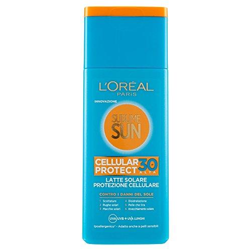 L'Oréal Paris Sublime Sun Cellular Protect, Latte Solare Protezione Cellulare IP 30, 200 ml