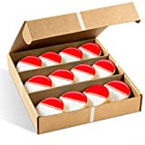 Gourmet Cookie Gift Box | 12 Individually Wrapped Cookies with Red & White Frosting | Valentines Cookies | Christmas, Thanksgiving, New Year's & Birthdays | Men, Women & Kids | Stern's Bakery