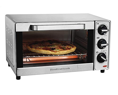 Hamilton Beach Countertop Toaster Oven & Pizza Maker, Large 4-Slice Capactiy, Stainless Steel (31401)