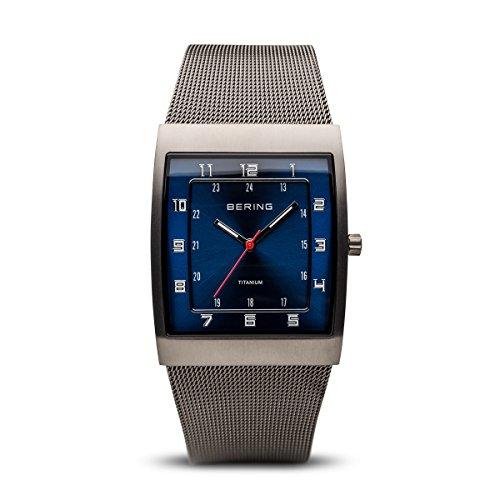 BERING Herren-Armbanduhr Analog Quarz Edelstahl 11233-078