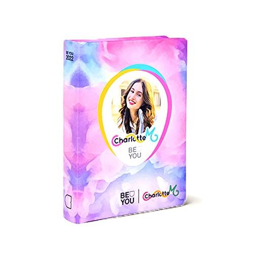 DIARIO SCUOLA Be You Be Charlotte - u Be yourself standard rosa 2021-2022 + omaggio penna multicolore profumata e portachiave con paillettes