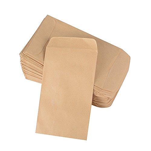 10*6 cm 100pcs Sacchetto di Carta Kraft Mini Busta Epoca per Semi o Dolci Matrimonio Segnaposto