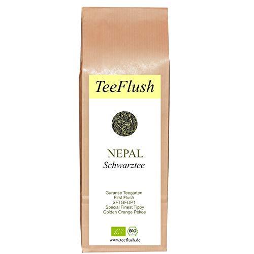 Schwarztee Nepal, First Flush, SFTGFOP1, Bio, lose, 250g, Guranse Teegarten, Geschmack: spritzig-blumig…