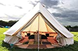 Pyramid Round Bell Tent Canvas Yurt Tent With Zipped Groundsheet For Family Outdoor Camping,A