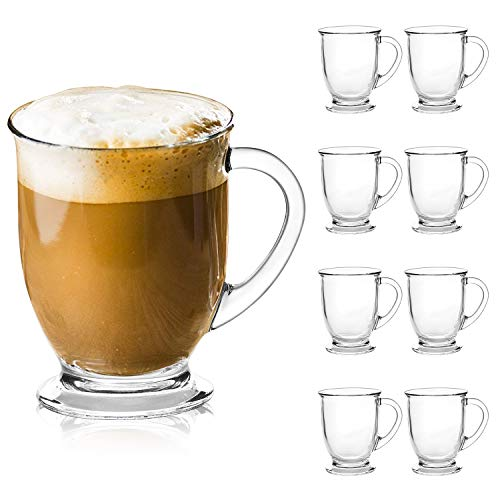 Clear Coffee Mugs With Handle 15 oz, Glass Cup Drinkware