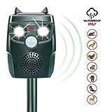 Diaotec Ultrasonic Animal Repellent Cat Repeller Dog Deterrent Squirrel Driver Solar Powered Waterproof Outdoor Green