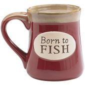 """Born To Fish"" Coffee Mug with Fisherman's Serenity Prayer Great Fishing Gift"