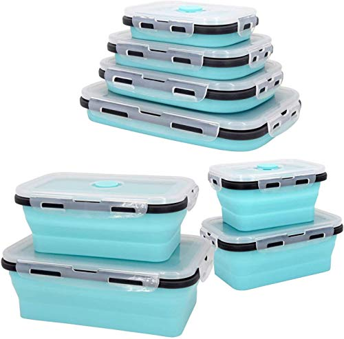 Plastic Food Storage Containers With Lids -4PC Silicone...