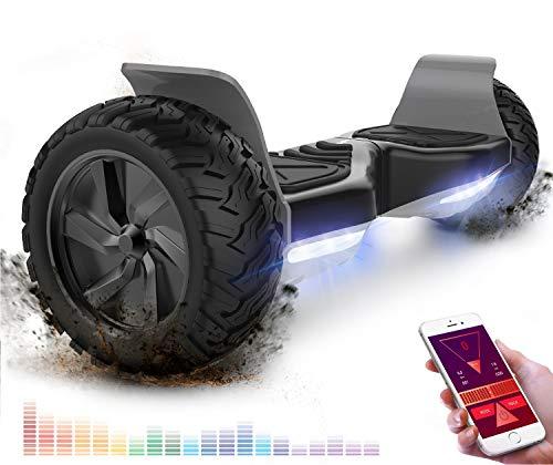 RCB Hoverboard Overboard Tout Terrain Auto-équilibrant Scooter électrique Gyropode 8.5 '' Hummer Off-Road Bluetooth APP Bluetooth LED avec Moteur Puissant
