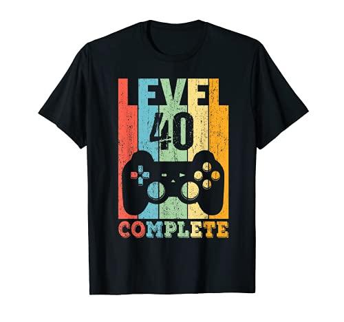 40 Años Cumpleaños Hombre Mujer Regalo Divertido Level 40 Camiseta