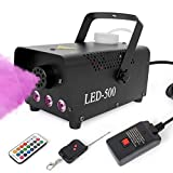 Fog Machine,Smoke Machine Fog with Lights Wireless Remote Control 13 Colorful LED Light Effects for Holidays Parties Weddings Christmas Halloween Lotmusic