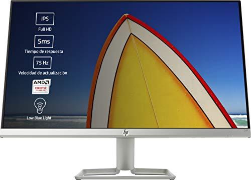 HP 24f - Monitor de 24' (FHD, 1920 x 1080 pixeles, Tiempo de Respuesta de 5 ms, 1 x HDMI, 1 x VGA, 16:9), Negro y Blanco