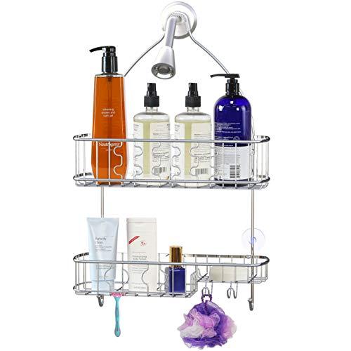 SimpleHouseware Bathroom Hanging Shower Head Caddy Organizer,...
