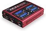 AC/DC 100Wx4/10Ax4 RC LiPo Charger Discharger Multi-Functions 4 Port Outputs Intelligent Balance Charger for LiPo LiIon LiHV Life NiMH NiCd Pb Batteries