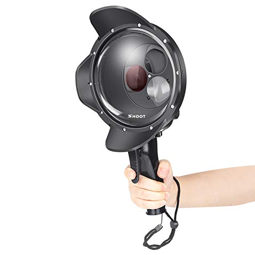 SHOOT Official 6.0 Dome Port per GoPro HERO 7 Black /6/5 Black/HERO 2018-6'' Integration Dome Lens aggiunto Filtro Macro 10X, Filtro Rosso per Fotografia Subacquea Accessori