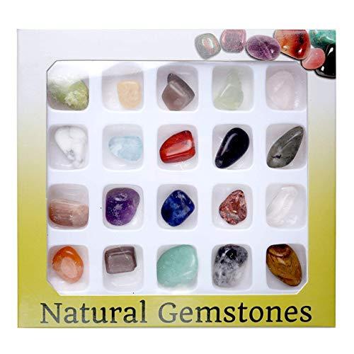 Jovivi 20 Mini Crystal Gemstones Chakra Stone Healing...