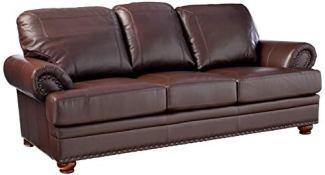Colton Sofa with Elegant Design Style Brown